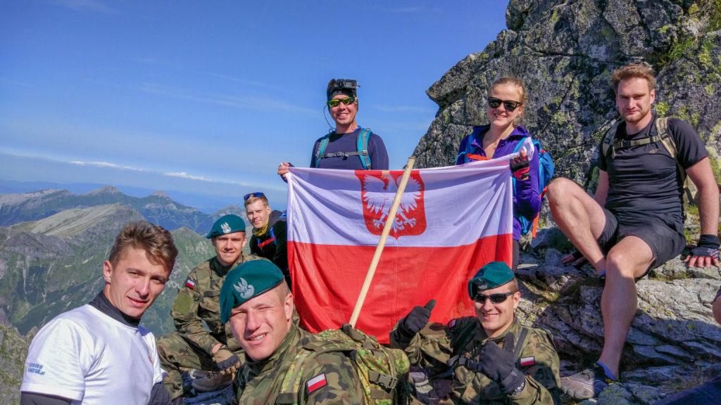 Z ekipą przy szczycie