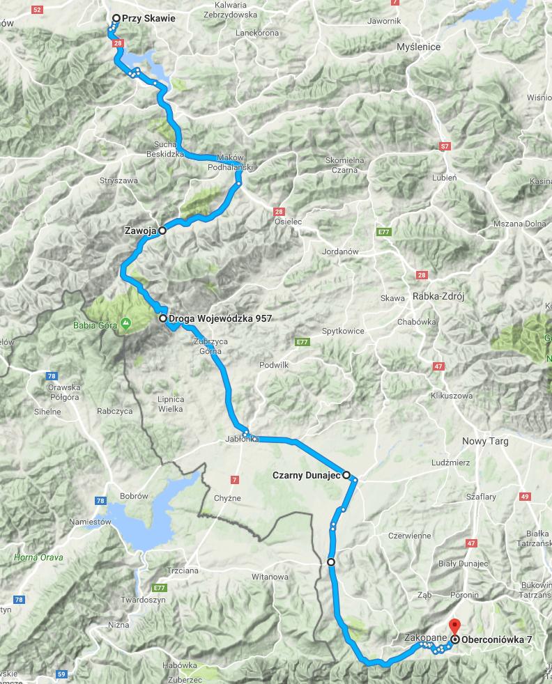 Ostatni fragment trasy, zdecydowanie najcięższy.