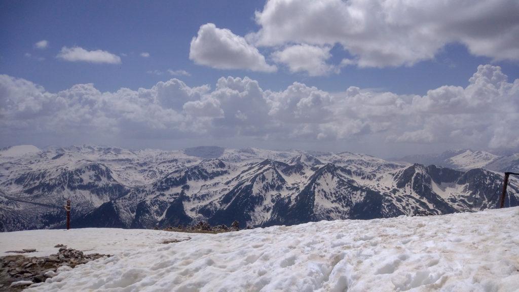 Widok na góry z masywu Riły