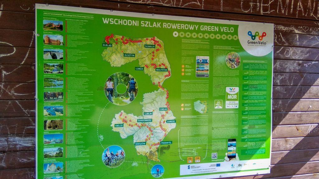 Mapa poglądowa całej trasy Green Velo
